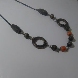 Boho Style Necklace with wooden beads